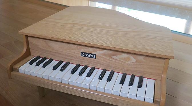 グランドピアノ型ミニピアノ【娘(長女)1歳の誕生日プレゼント】