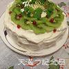 夏の手作り誕生日ケーキ、簡単デコレーションでハーブとキウイの爽やかショートケーキ。