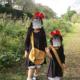 ハロウィン用【魔女の宅急便】キキのカバン作りました!姉妹お揃い使用画像。