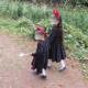 ハロウィン用【魔女の宅急便】キキの仮装すべて完成!姉妹お揃い着用画像。